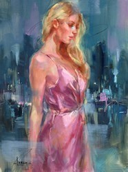 For a While I by Anna Razumovskaya -  sized 18x24 inches. Available from Whitewall Galleries
